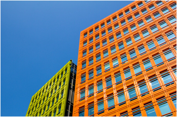 Green, Orange and Blue