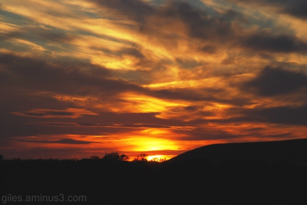 Fiery Sunset over Saunton N.Devon