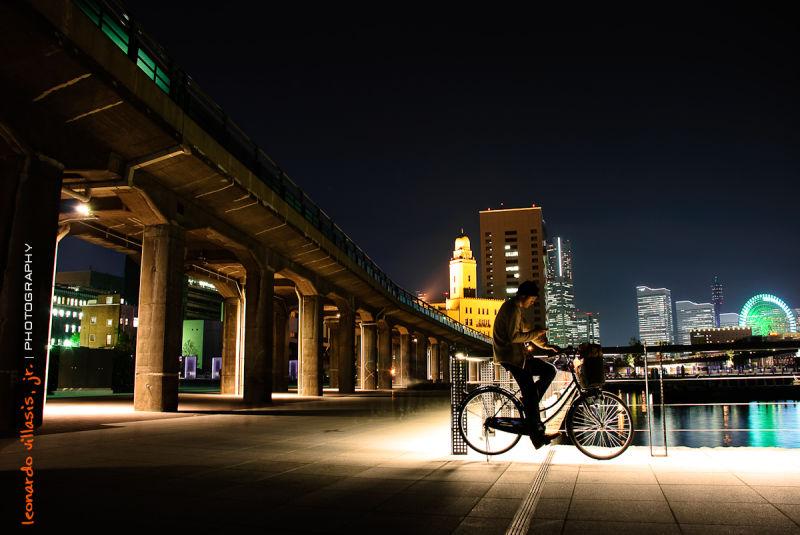 Waiting in a bike