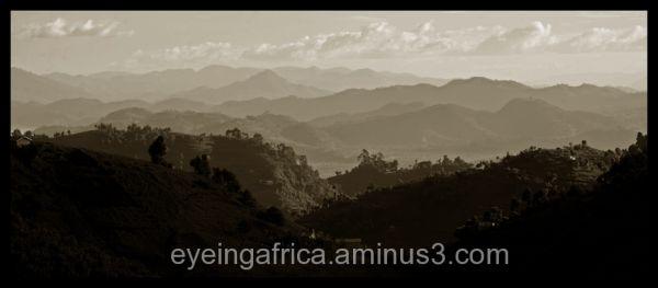 Mountains Overlooking DRC, Uganda and Rwanda
