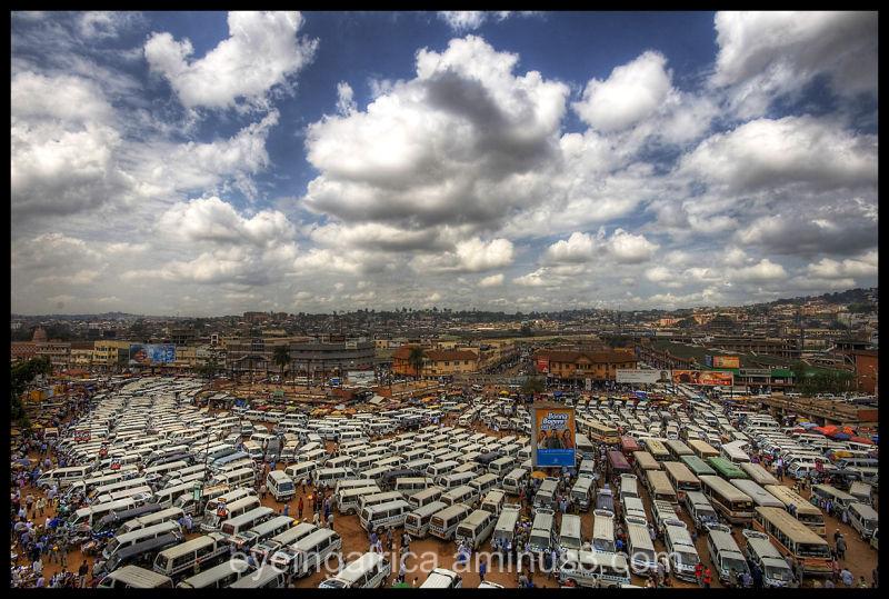 Taxi Car Park Madness In Kampala, Uganda