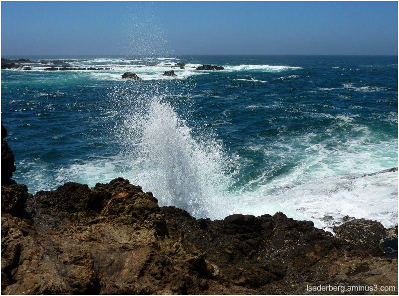 Caspar Beach  surfs up