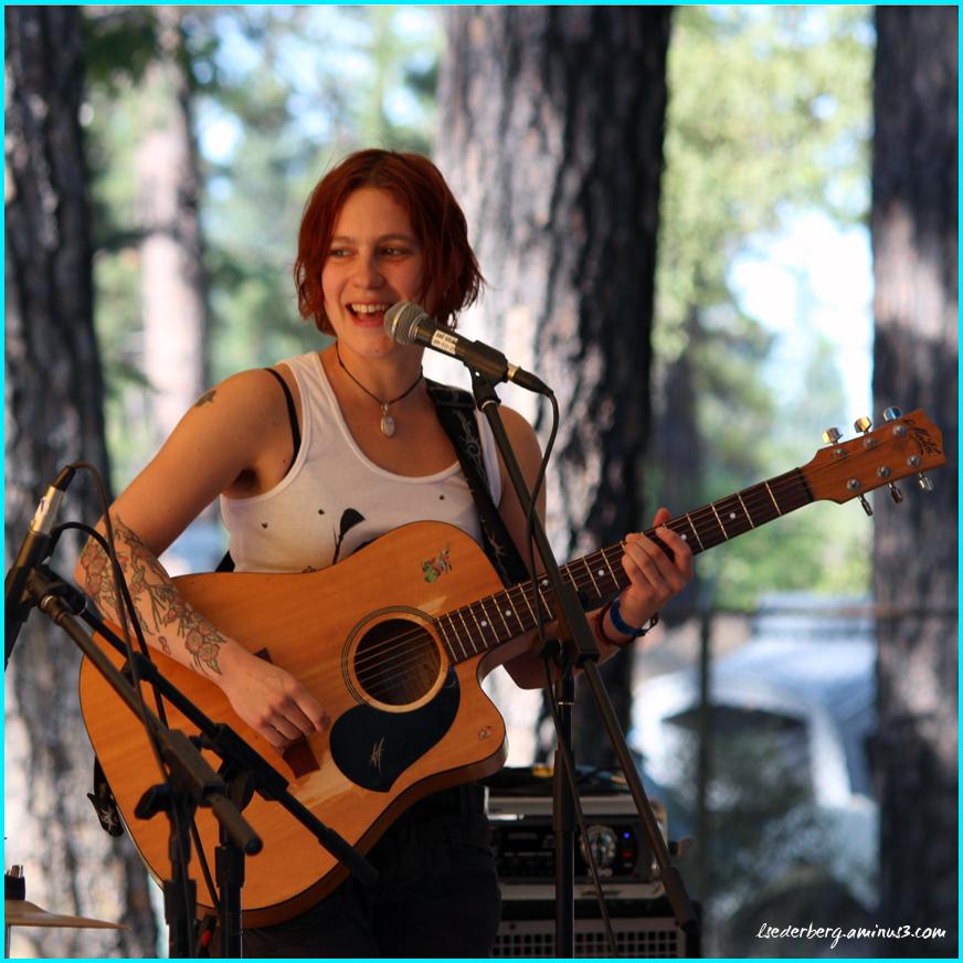 Rosie on guitar