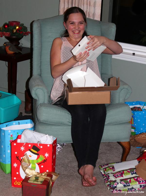 Madi opening gift