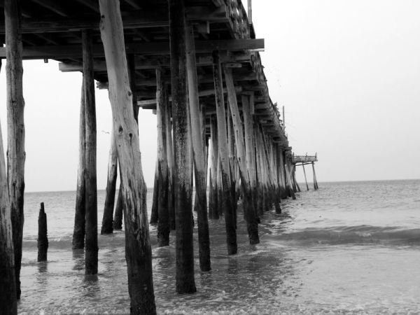 Pier at Naggs Head Beach