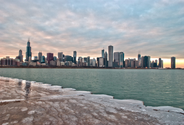Chicago from the observatory