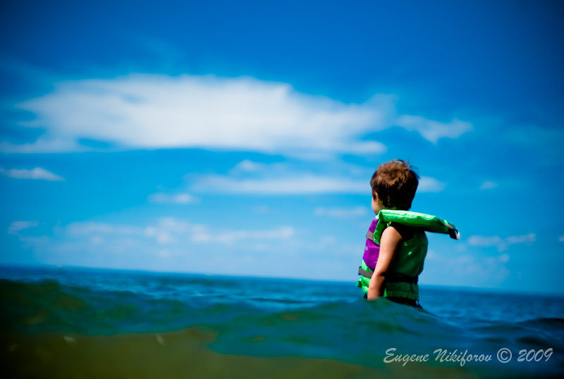 A boy and an ocean