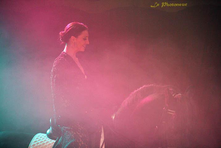 Maud et ses chevaux de haute école