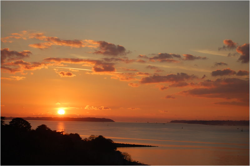 Coucher de soleil sur la rade de Brest