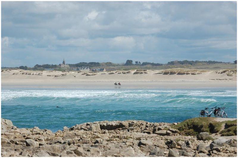La plage de la Pointe de la Torche - Finistère