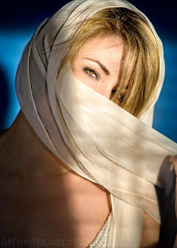 woman and scarf