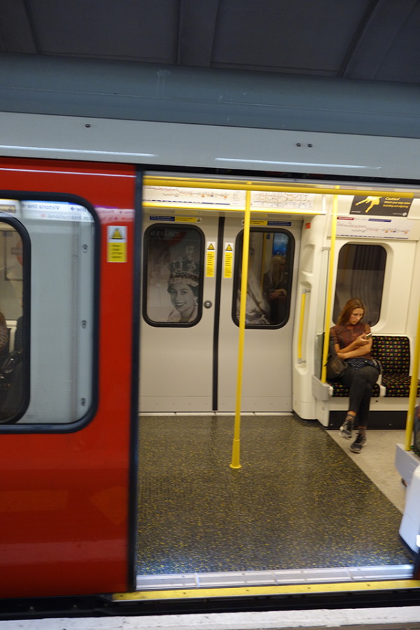 A Picture of the tube in London