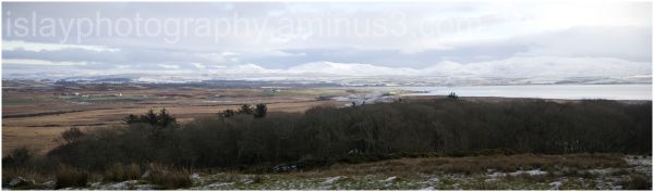 Xmas day panorama Loch Indaal