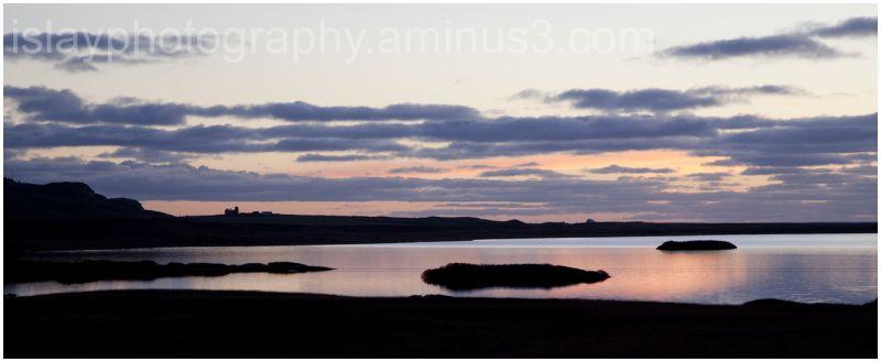 Sunset over Loch Gorm