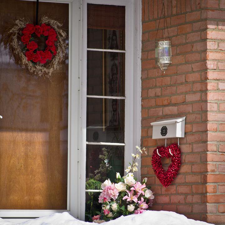 Neighbor's Valentine's Day Shrine