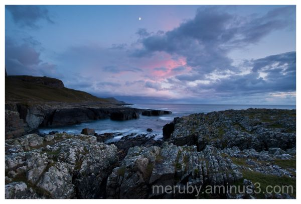 The moon over Machir Bay