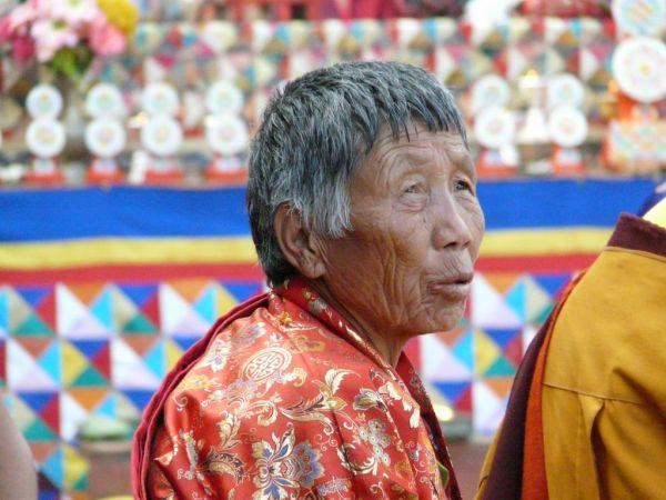 Bhutan woman durinf Timphu's festival
