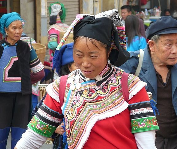 typical portrait in Yunnan country