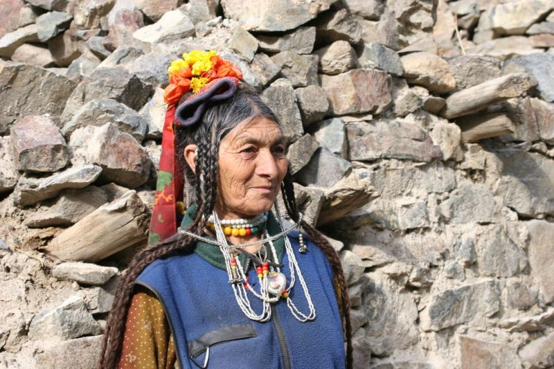 dard woman, aryen tribu in Ladakh