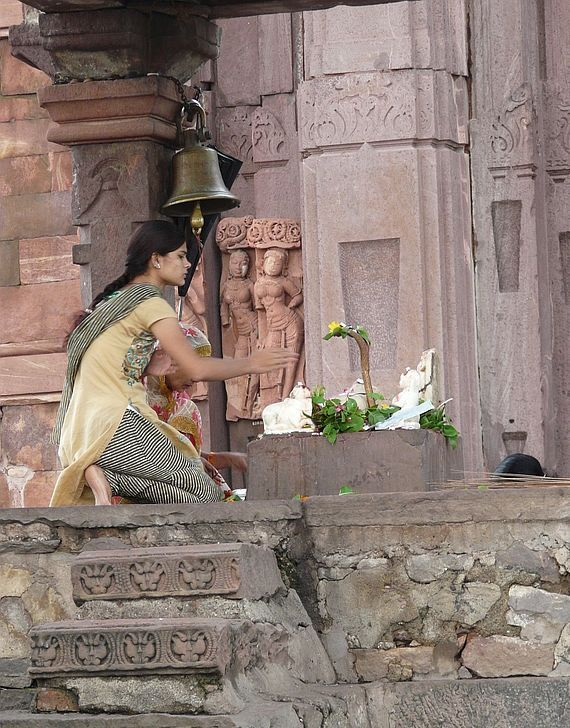 scène de la vie courante en Inde