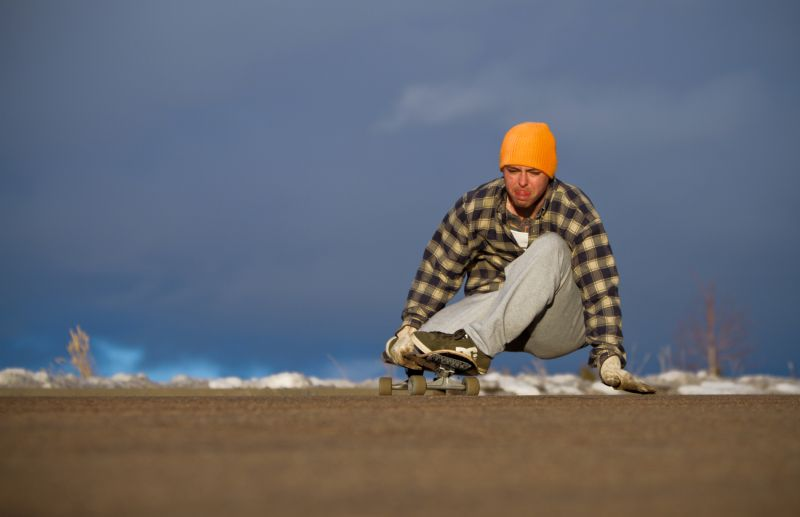 Laramie Wyoming Skating Longboarding Joe Hampton