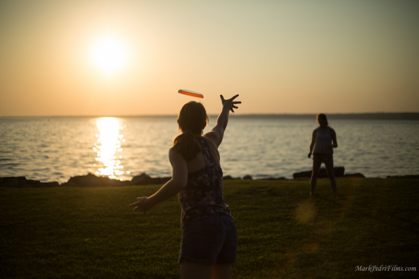 New York, Beach, Frisbee