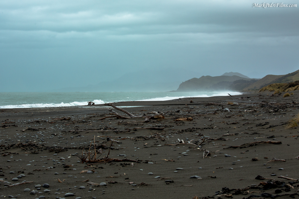 New Zealand, South Island, Black Sand, East
