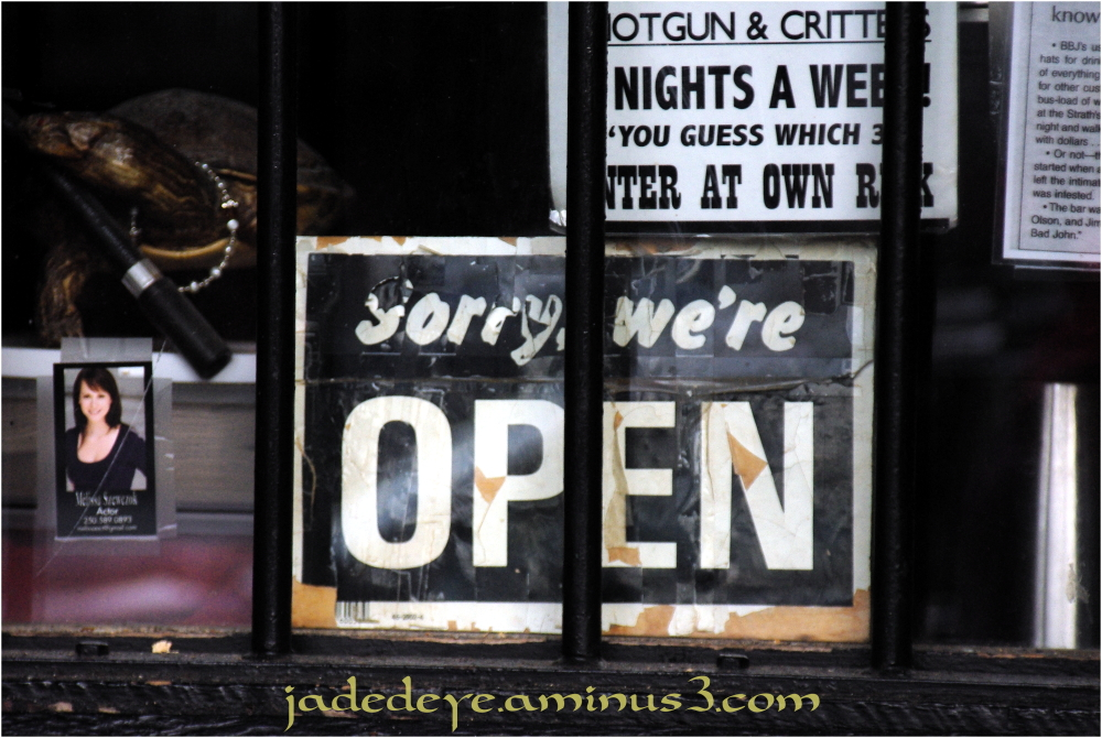 Sorry We&#039;re Open