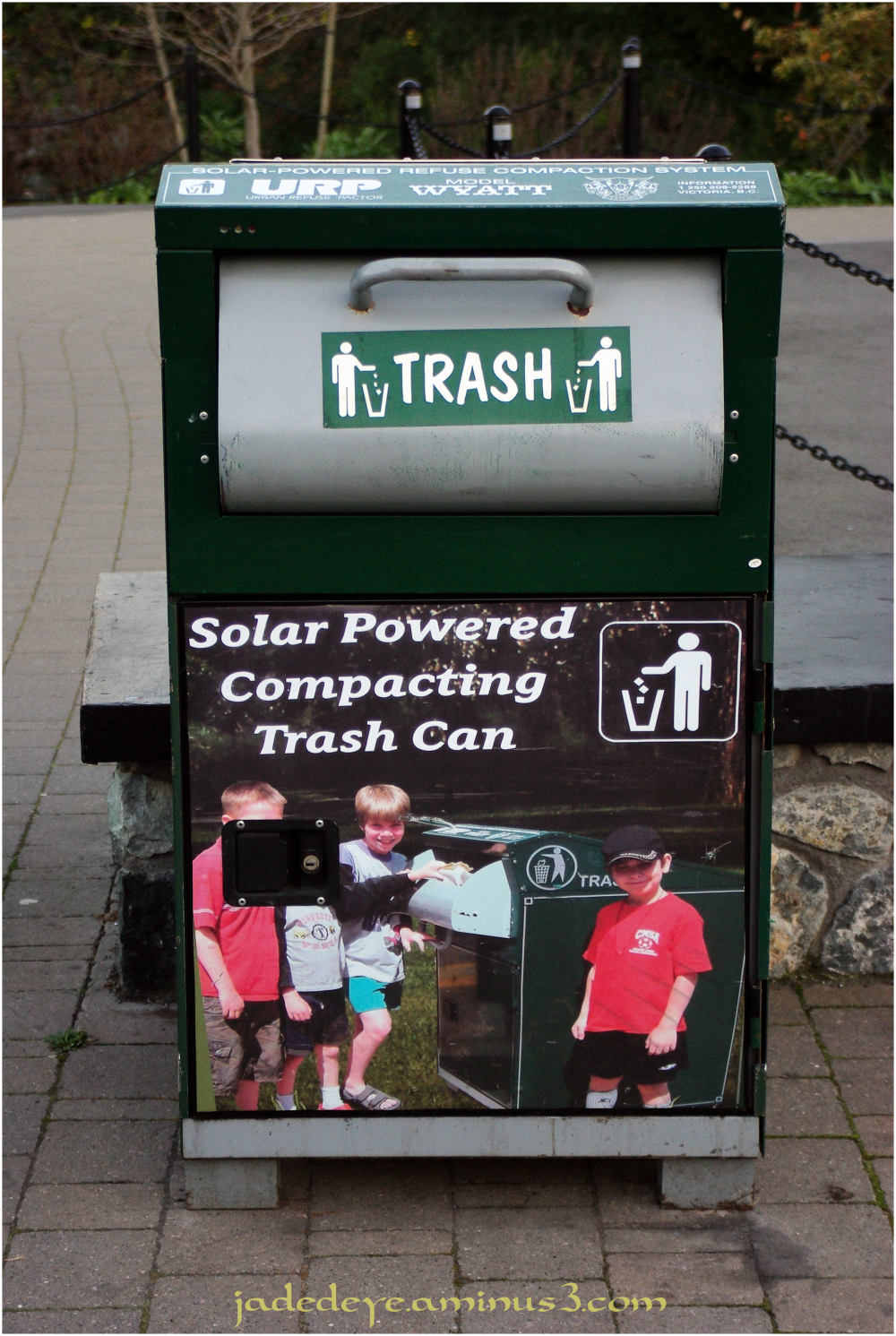 Solar Powered Trash Compactor