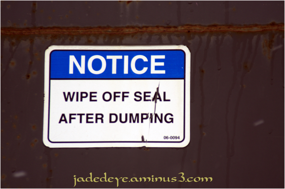 Wipe Off Seal!