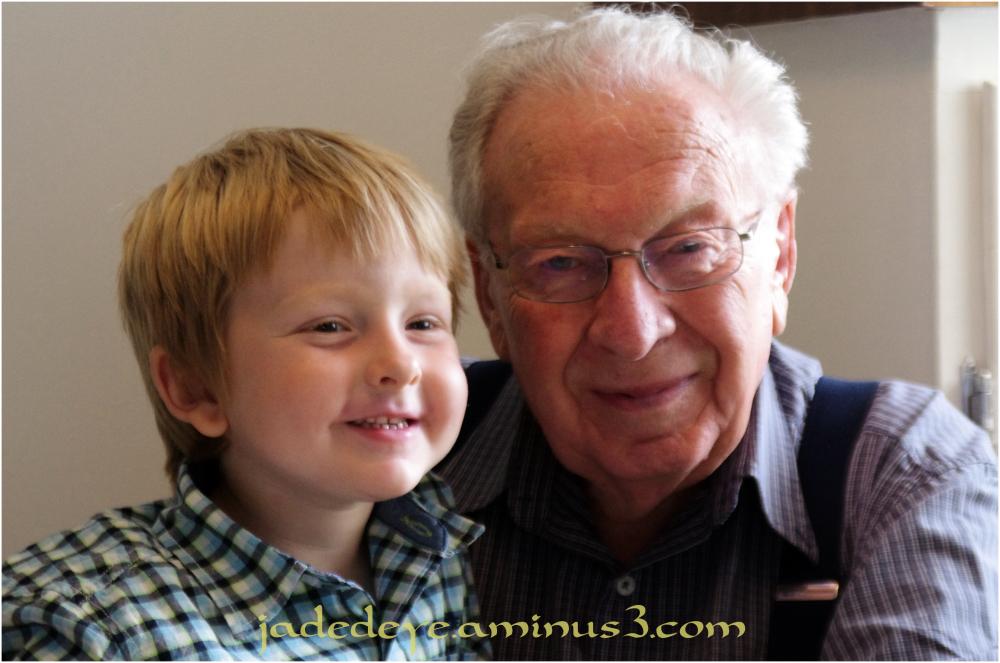 Cael & Great Grandfather Leo