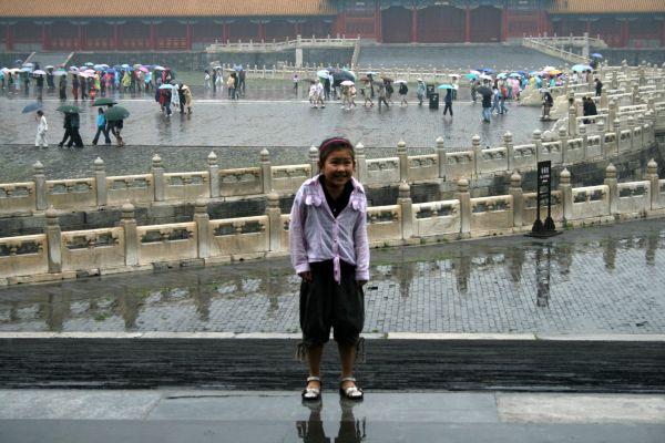 In the rain...