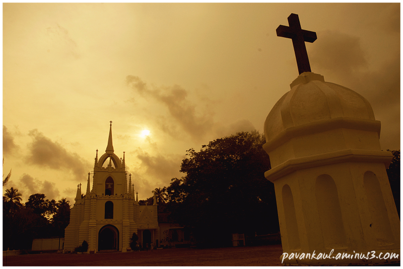 Sunset over Goan Church