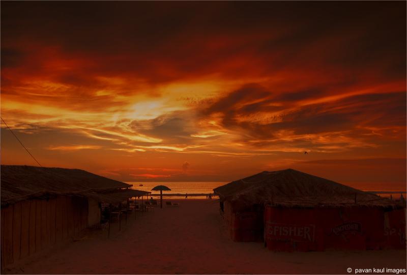 sunset skies in goa