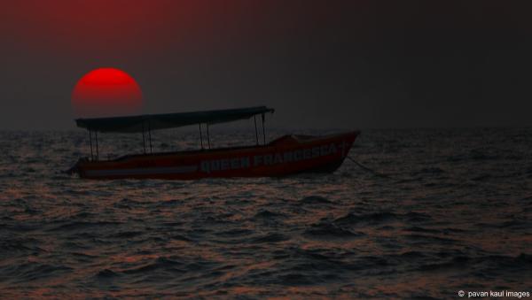 sunset over ocean in goa