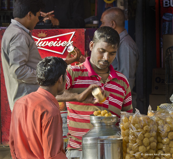 street food and beer