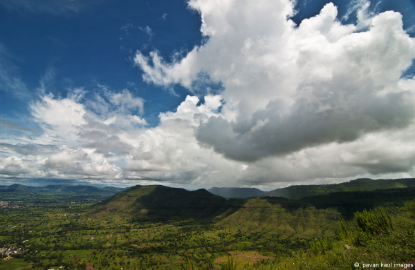 monsoon clouds over hills