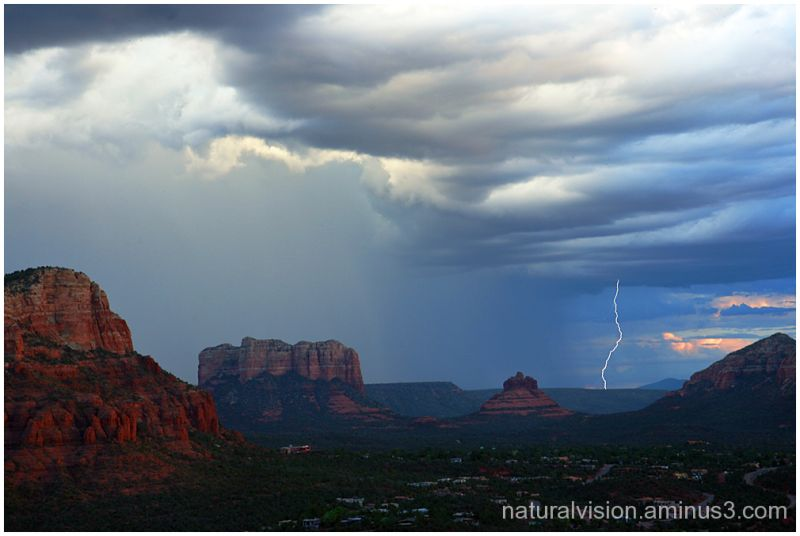 Lightning in Sedona, Arizona