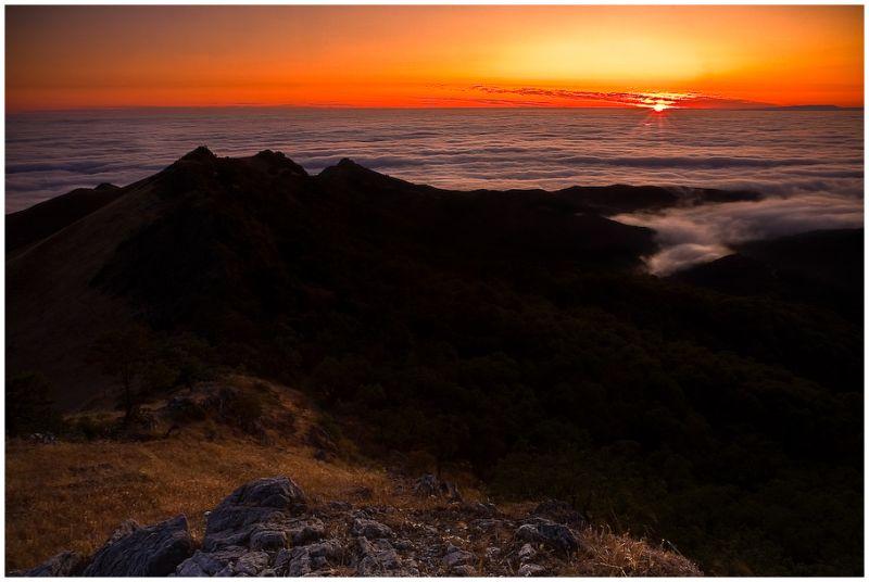 fog over monterey bay