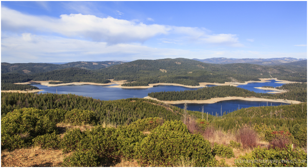 Union Valley Reservoir from Big Hill Lookout