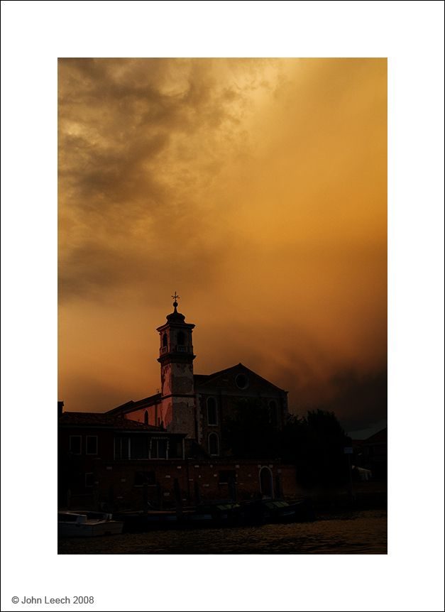 Storm brewing over Murano
