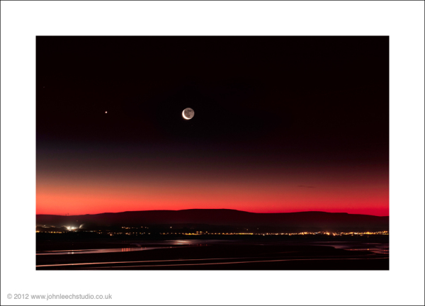 moonrise morecambe bay fine art photograph