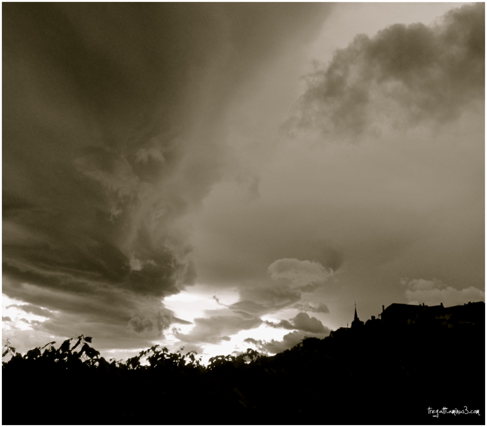 storm, vineyards