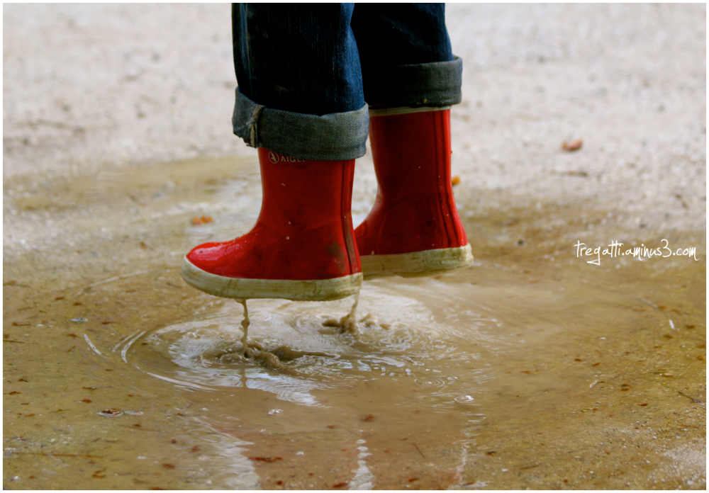 levitation, wellies, puddle
