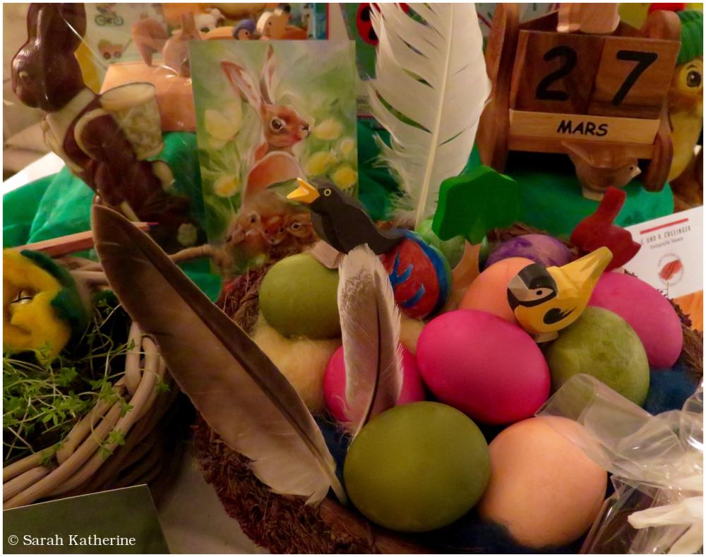 easter, basket, eggs, basket
