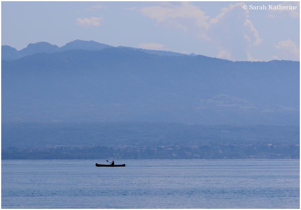 lake, canoe