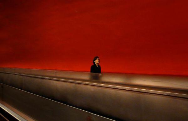 metro auber tapis roulant rouge