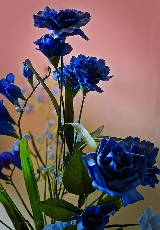 artificial blue flowers