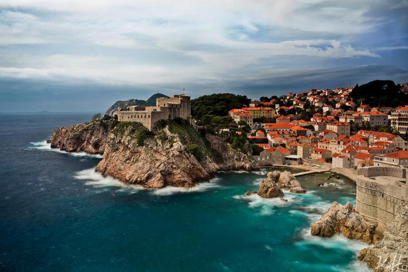View from Dubrovnik citadel walls