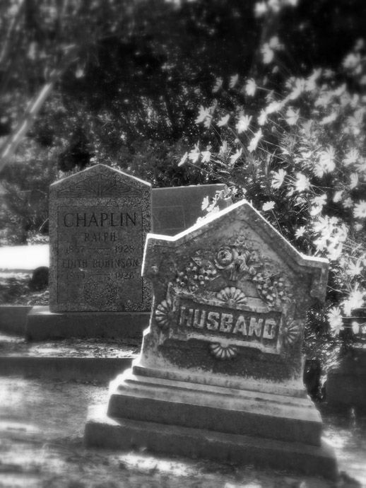 Interesting gravesites in a small town cemetery